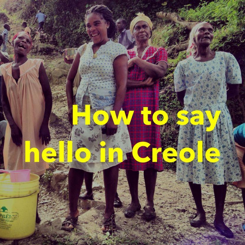 Say Hello - Creole