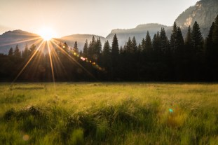 Sunrise in Yosemite Valley