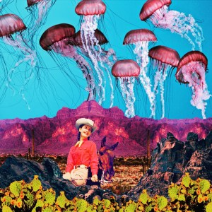 cowgirl and desert meet surreal jellyfish