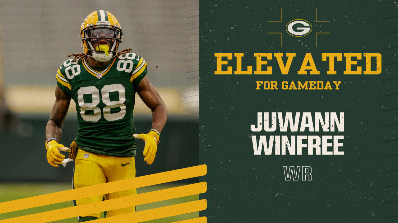 Packers elevate WR Juwann Winfree for gameday as COVID-19 replacement