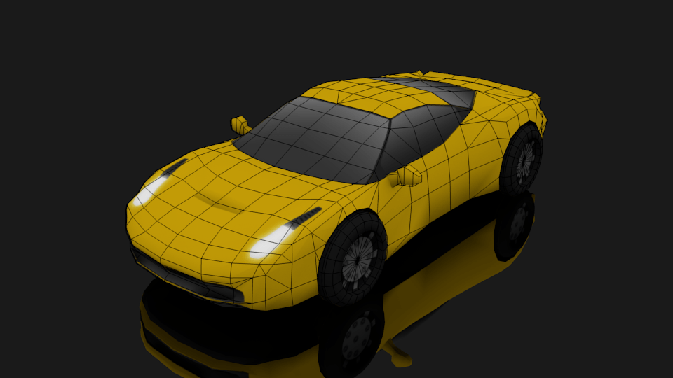 Blender Lowpoly Car Stopsecret Design