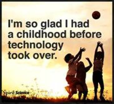 Pic-childhood before technlogy