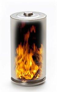 LithiumBatteryOnFire