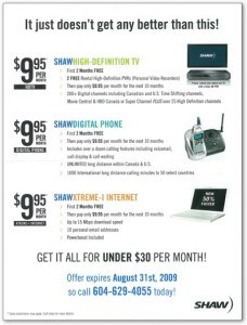 Shaw's flyer distributed to Novus customers (click to enlarge)