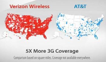 Cell Phone Follies ATT Sues Verizon Over G Map TMobile Suffers - Verizon network map