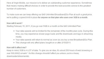 Virgin mobile's unlimited broadband2go service reviewed; had cap.