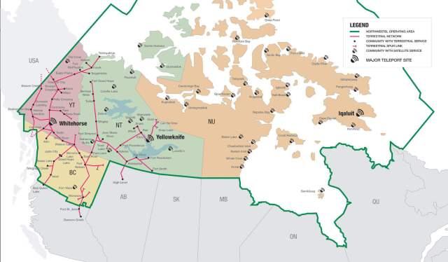 northwestel-operating-map