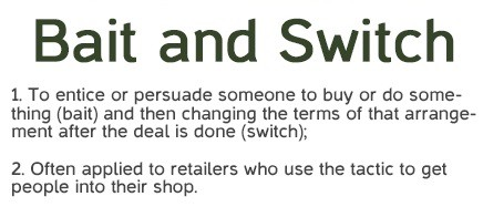 Meaning of bait and switch