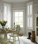 White shutters bringing light and elegance to any room