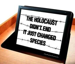 Message - Holocaust billboard tablet