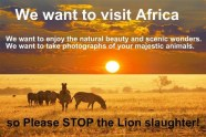 Message - We want to visit Africa