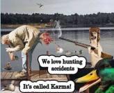 Trophy hunters - Revenge hunting accidents boat