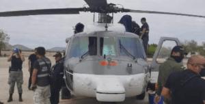 Narcos del cartel de Sinaloa abren fuego contra un helicóptero UH-60 Blackhawk en vuelo de Guardia Nacional de México