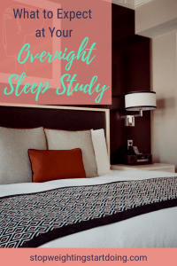 A cozy-looking bed with a lamp on a bedside table. What to Expect at Your Overnight Sleep Study | Another Step in your Weight Loss Surgery
