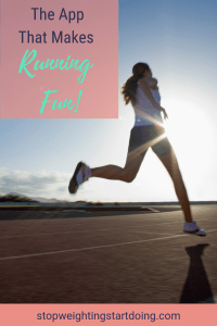 Girl running into the sunset. The App That Makes Running Fun!