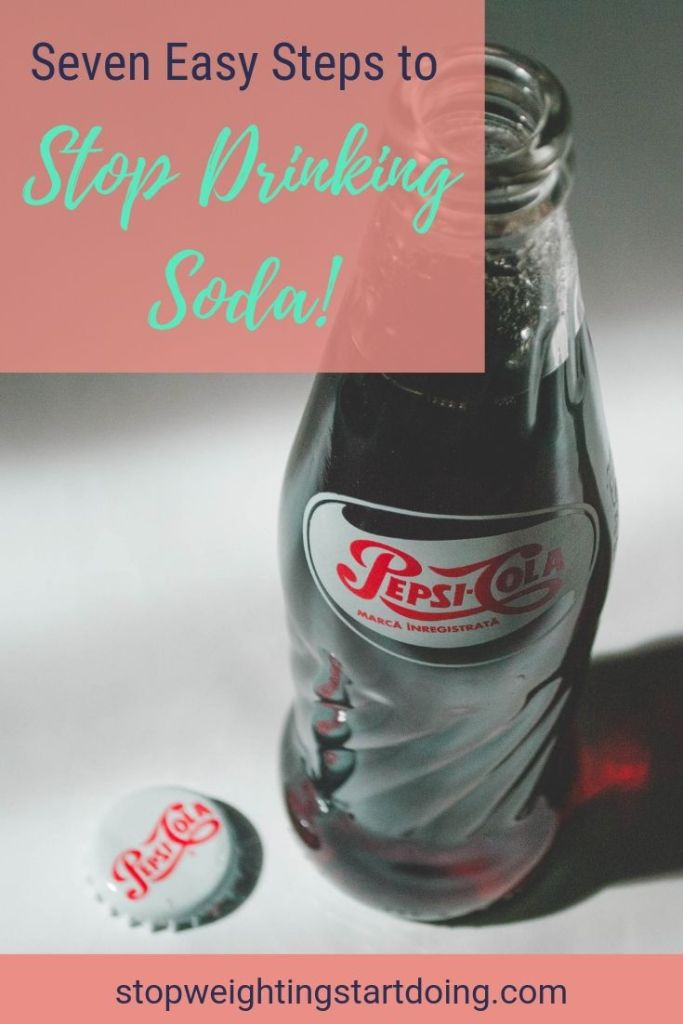 An old-fashioned glass bottle of Pepsi. Seven easy steps to stop drinking soda.