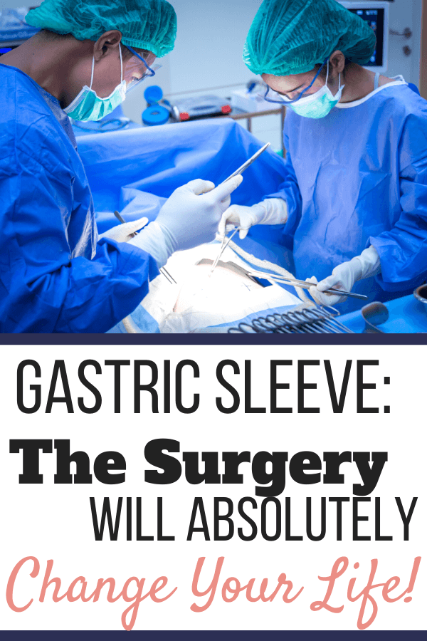 Two surgeons operating on a patient. Day of Gastric Sleeve Surgery: The Day That Will Absolutely Change Your Life | Pinterest Graphic02