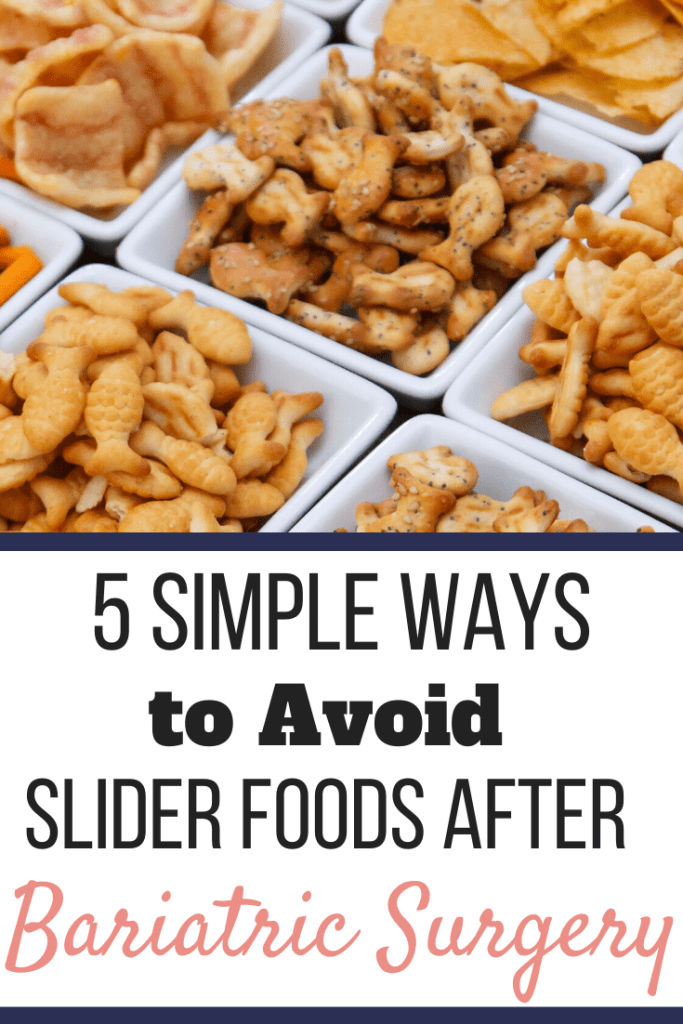 Multiple square white bowls filled with different snack crackers. | 5 Simple Ways to Avoid Slider Foods After Bariatric Surgery | Let Go Now | Image | list of gastric sleeve slider foods