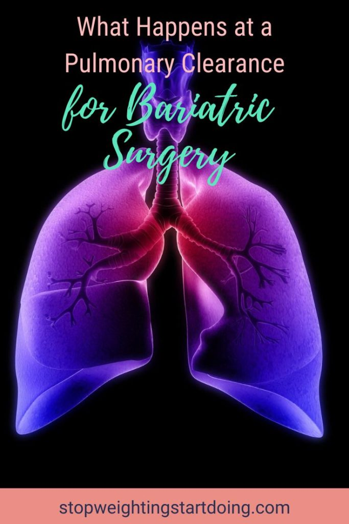 An image of a pair of lungs shaded in purple and pink. |What Happens at a Pulmonary Clearance for Bariatric Surgery | Breathe Out | pulmonary clearance for surgery, perioperative pulmonary evaluation