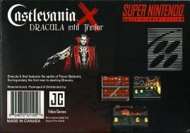 SNES - Castlevania Dracula X Evil Trevor back