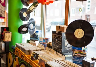 Vinyl records at Backlist Halmstad