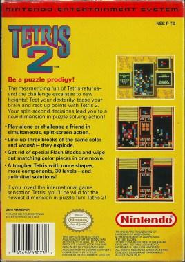 NES - Tetris 2 back