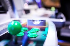 Atomiswave arcade green buttons