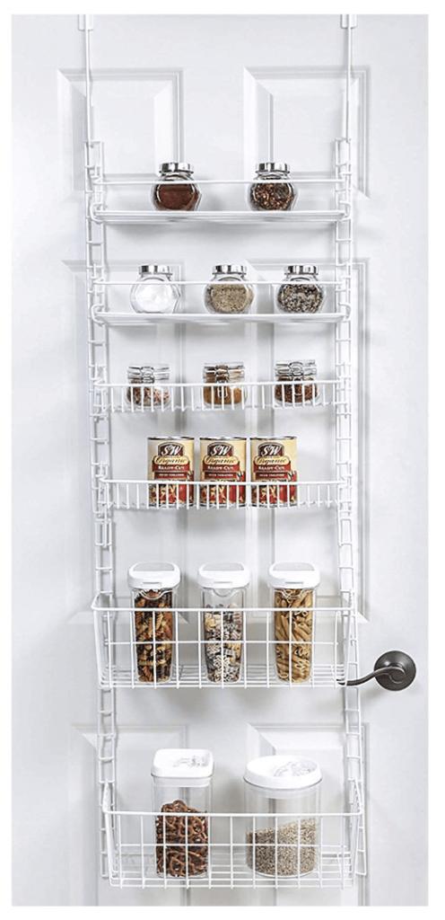 over door adjustable pantry organizer rack