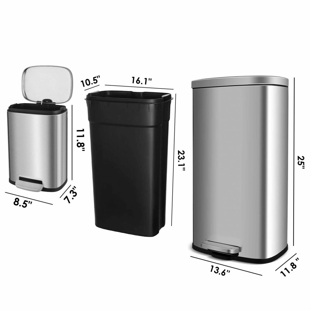 Kitchen Size Trash Can Novocom Top