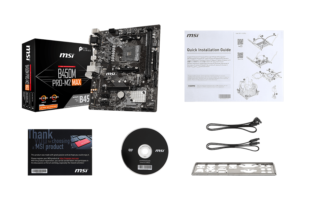 MSI B450M PRO-m2 max box content