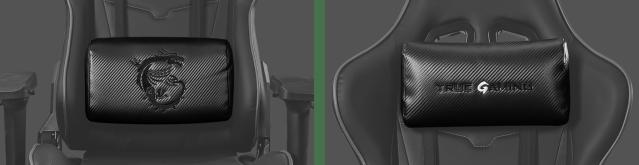 Ergonomic headrest and lumbar cushion