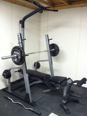 nautilus squat rack bench olympic