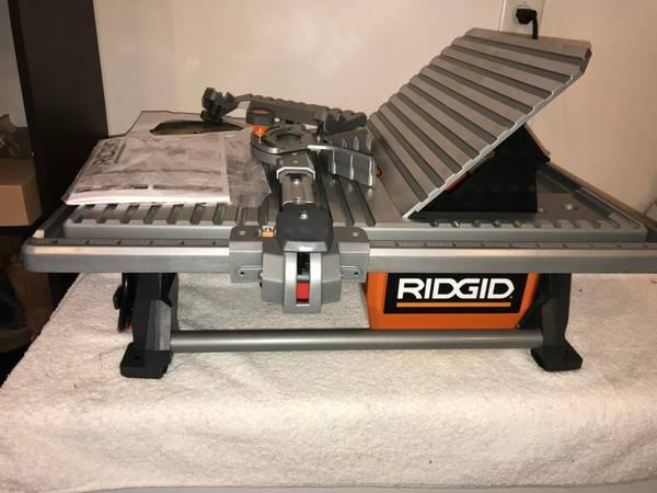 ridgid r4021 7 wet tile saw new