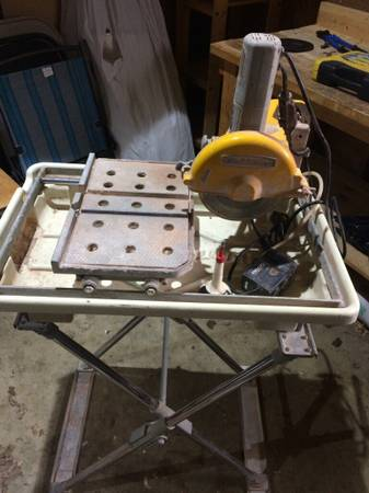 workforce 7 wet tile saw w stand