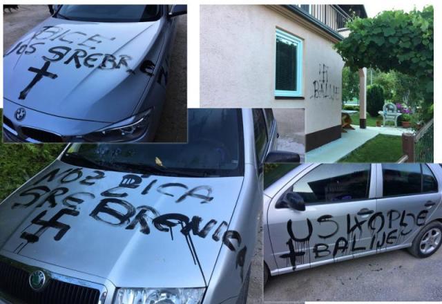 - Uskoplje: Vlasnik automobila priznao da je sam pisao grafite, a lagao pred kamerama