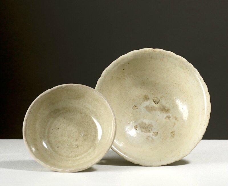 Deux bols, Vietnam, dynastie des Trần (13°-14°siècle) et Lê (15°-16°siècle)