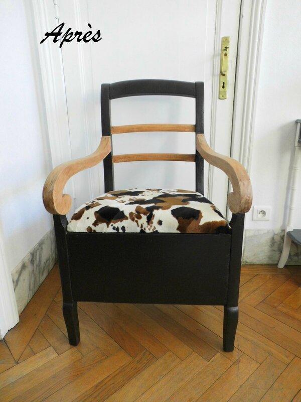 fauteuil vache apres
