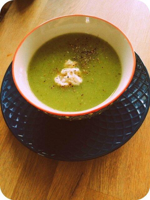 Soupe courgettes ricotta - pic