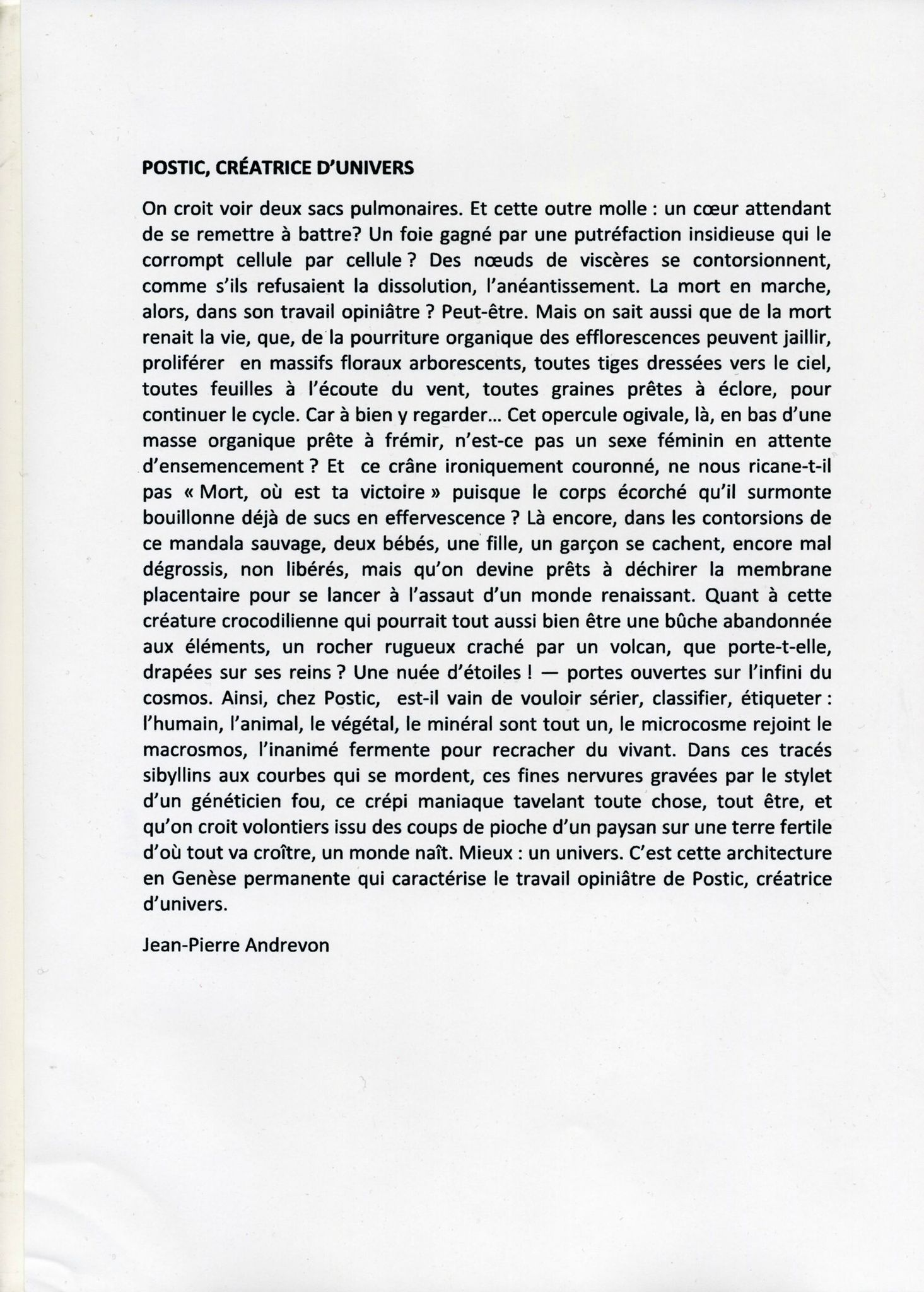texte JP001POSTIC