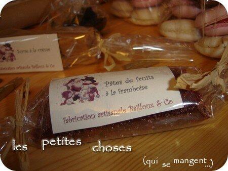 Pâtes de fruits aux framboises