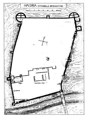Plan de la citadelle de Haidra