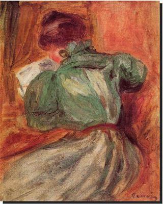 Renoir la liseuse verte