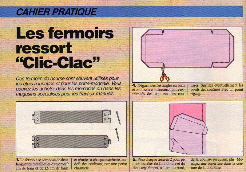 Pochette Clic Clac Le Blog DAventurine
