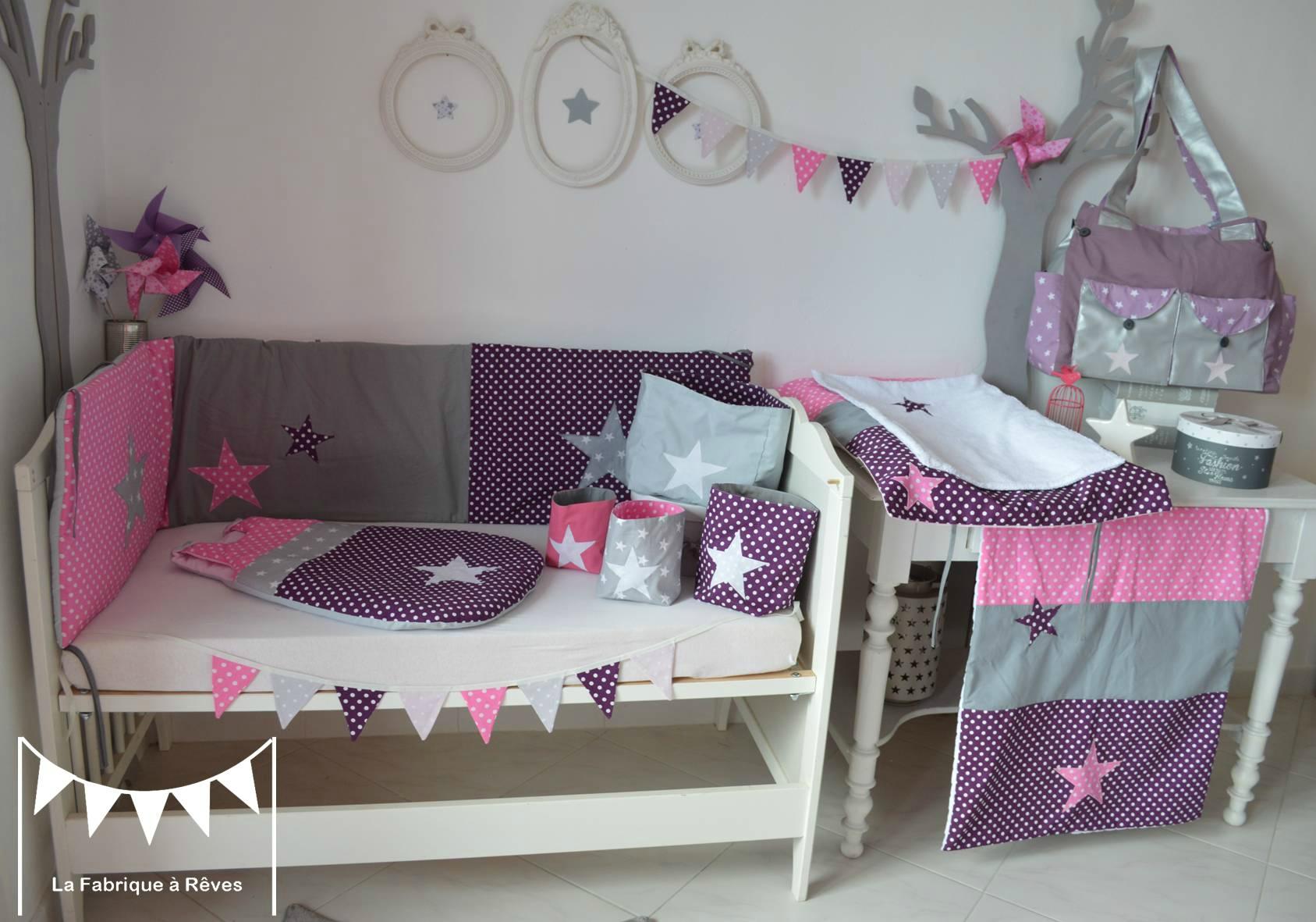 Chambre Bebe Fille Gris Et Rose - Novocom.top