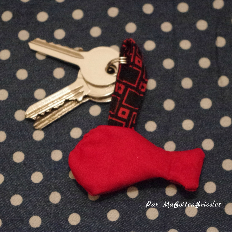 Porte-clé #2 Poisson - MaBoîteàBricoles