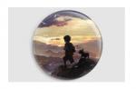 Badge Le voyage de Yann et Ani