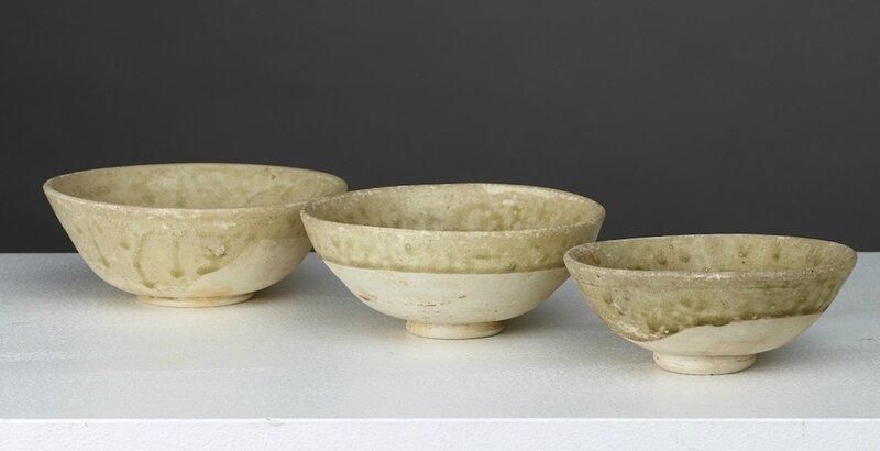 Lot composé de trois bols, Vietnam, période Annam, 9°-10° s