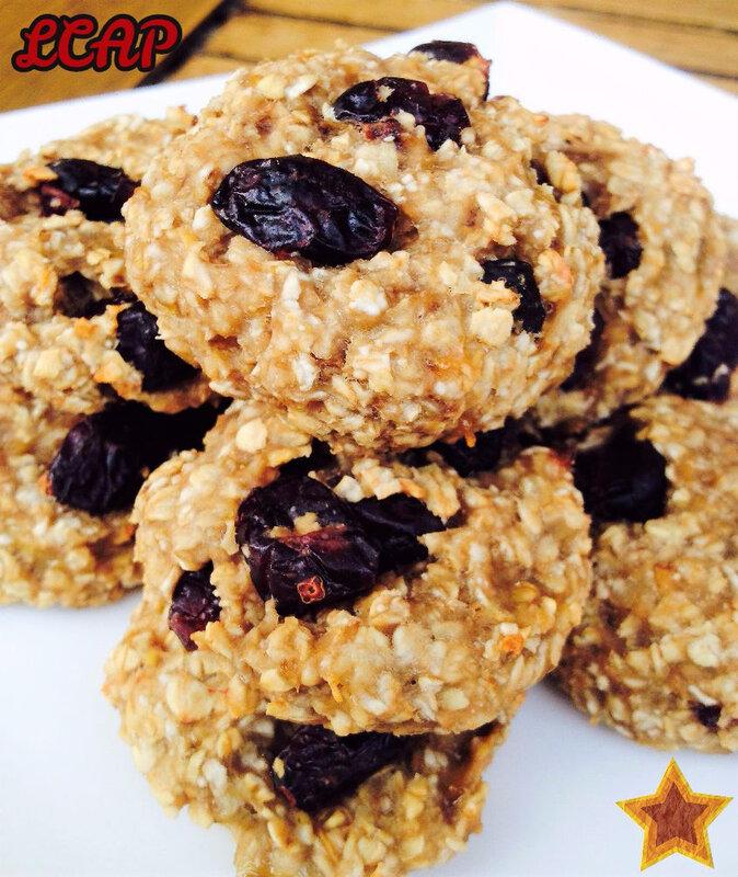 biscuits flocons d'avoine banane et cranberries 1 la cuisine danna purple