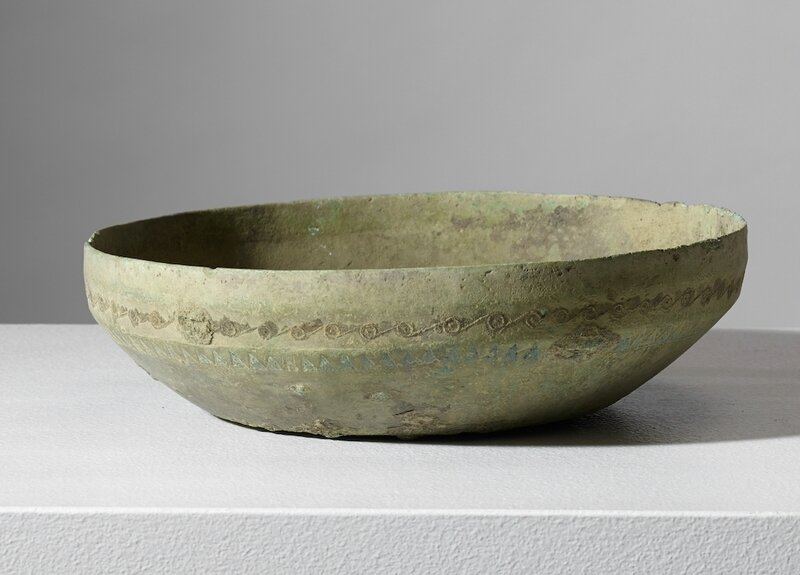 Rare bassin, Vietnam, culture de Đông Sơn, 500 BCE – 100 BCE