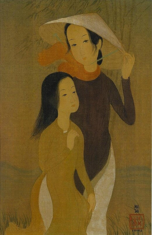 Mai Trung Thứ (1906-1980), Deux Jeunes Femmes (Two Young Ladies)
